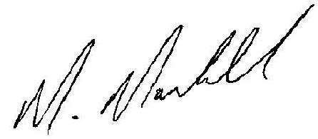 Mike's signature